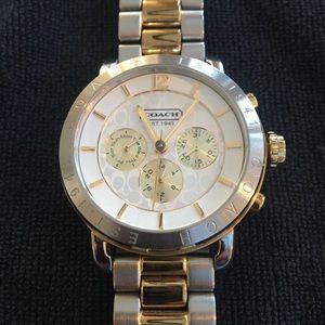 Coach mixed metal bracelet watch